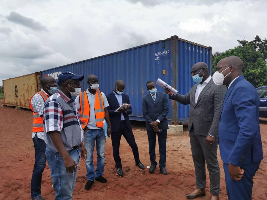 DG APIEx sur les installations des entreprises UPP et UTPA  à Glo-Djigbé
