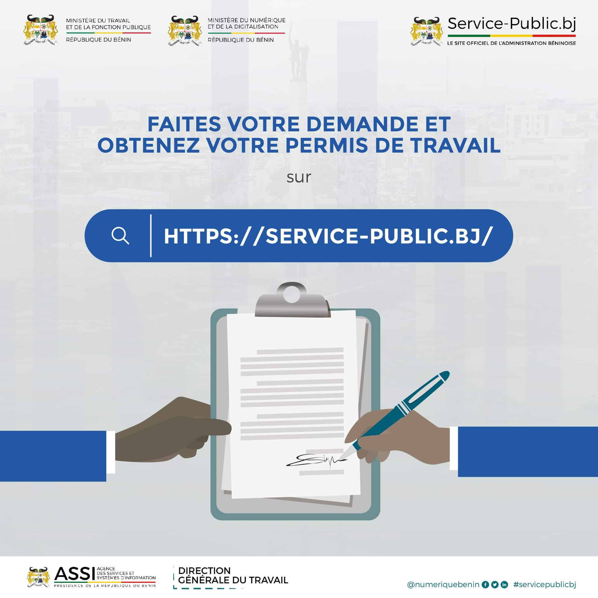 Travailleur étranger, obtenez désormais le Permis de travail en ligne au Bénin